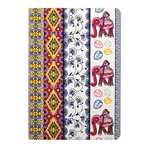Amrita Sen Elephant with Multi-Stripe Handmade Embroidered Journal