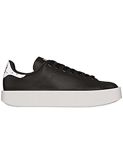 Adidas Stan Smith Bold Originals Sko Dame Hvite og Svart