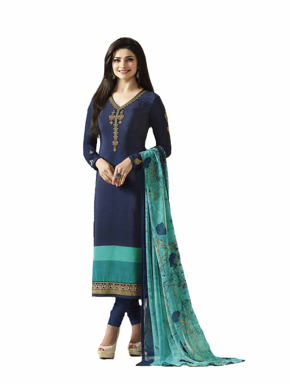 Ready Made New Designer indian/pakistani fashion salwar kameez for women VF (X LARGE-44, Blue)