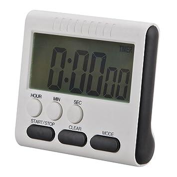 AnySell - Reloj de cocina digital con pantalla LCD, magnético, 24 horas: Amazon.es: Hogar