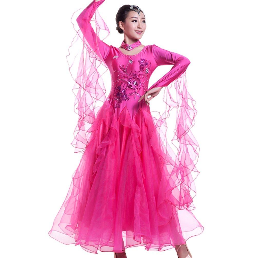 Ballsaal Tanzkleider Für Für Für Frauen Lange Ärmel Expansion Performance Rock Tango Walzer Modernes Tanzkleid Nationaler Standard Tanzkleidung B07JM8ZH8B Bekleidung Gewinnen Sie hoch geschätzt 3cf6eb