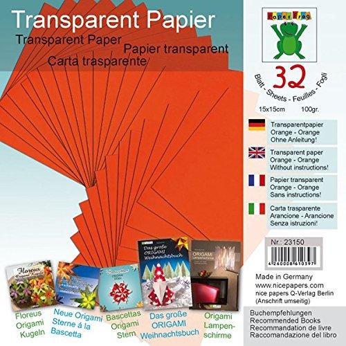 Transparentpapier Orange 15 x 15 cm: Material für