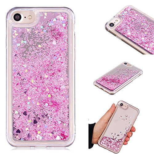 iPhone 7 Case, iPhone 8 Case, KMISS Mirror Luxury Glitter Liquid Floating Bling Sparkle Fashion Creative Design Mirror Bumper Protective Cover iPhone 7 / iPhone 8 - Nokia Cases Girls 635 For Phone