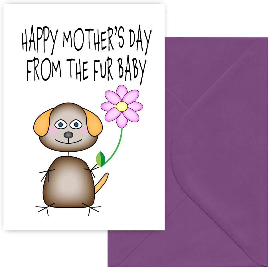 Groovy Happy Mothers Day From The Fur Baby Greeting Card Mothers Day Funny Birthday Cards Online Fluifree Goldxyz