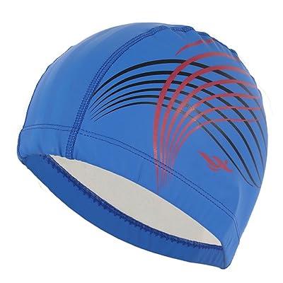 Natation Chapeau Universal Fashion Long Hair Tab PU Revêtement Lâche Confortable Spa Bonnet de Bain Adulte Chapeau ( Couleur : Royal blue )