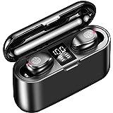 Wireless Earbuds, Bluetooth 5.0 Graphene bass Hi-Fi Headphones with 1500mAh LED Charging Case, IPX7 Waterproof TWS in-Ear Hea
