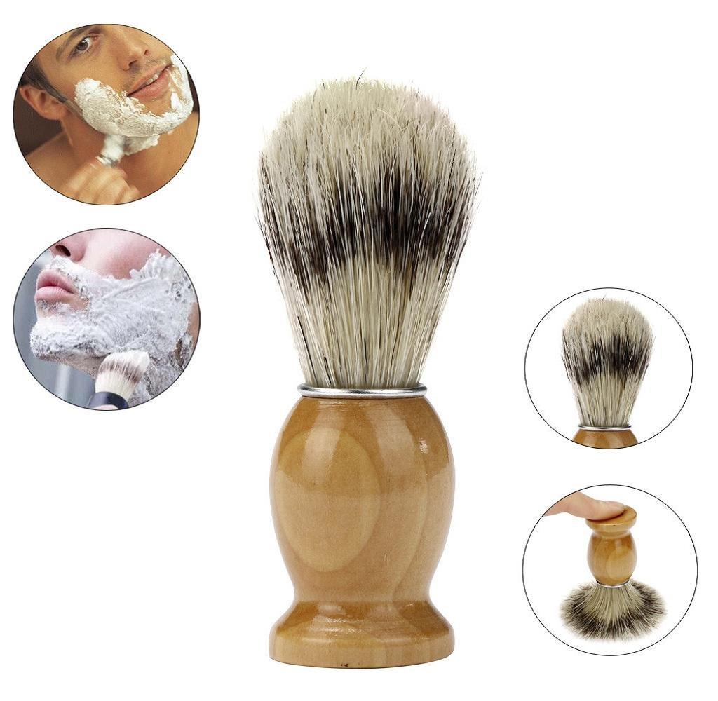 Badger Shaving Brush,Malloom Professional Barber Salon Shave Shaving Razor Brush Wood Handle Tool