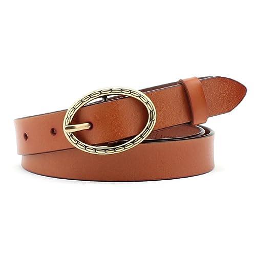Señoras Simple Cinturón,Decoración Jeans Pin Hebillas Cinturón Simple Salvaje Elegante Cinturón Ocio...