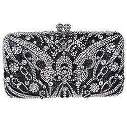 Fawziya Butterfly Clutches For Women Rhinestone Crystal Evening Bags-Blue