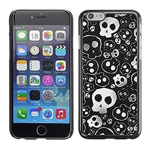 Be Good Phone Accessory // Dura Cáscara cubierta Protectora Caso Carcasa Funda de Protección para Apple Iphone 6 Plus 5.5 // Skull Cute Cool Metal Design Death Punk