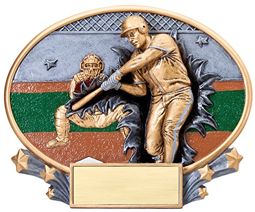 Etch Workz Motion Extreme Baseball Trophy - 6'' Tall by Etch Workz