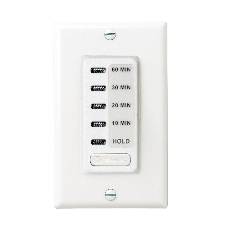 Intermatic EI210W Electronic Auto-Off Timer 10/20/30/60 Minutes, White