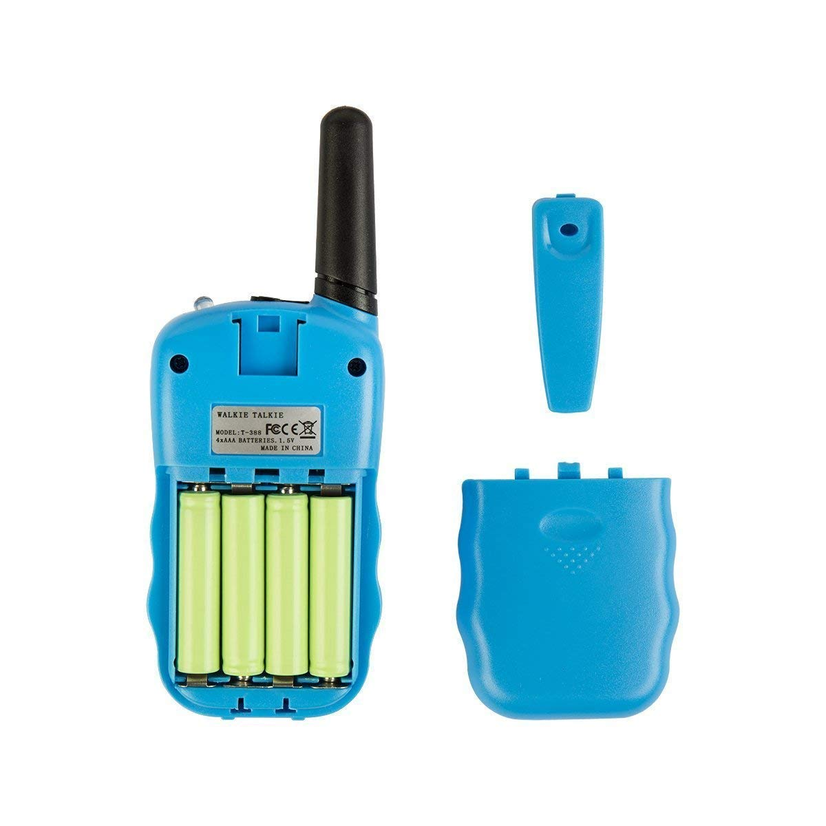 Rechargeable Walkie Talkie, Easy to use Two Way Radios, Best Gift 22 Chanels Long Range Cool Vox Walky Talky for Camping Hiking Fishing Toys with Batteries and Charger (Blue) by GZL (Image #4)
