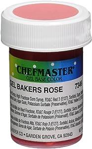 Kitchen Krafts Chefmaster 1 Oz Gel Food Color-Baker's Rose, , pink