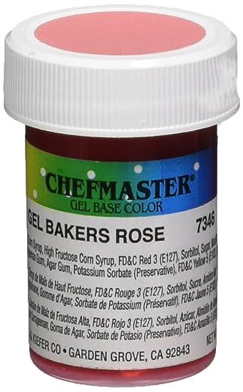 Amazon.com: Chefmaster Gel Food Color, 1-Ounce, Baker\'s Rose ...