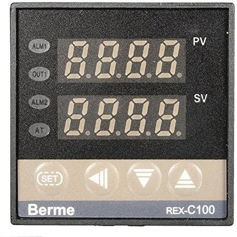 240/V 220/V AC PID Rex-c100/contr/ôleur de temp/érature avec Max 40/a SSR K thermocouple Sensor Teabelle Digital 110