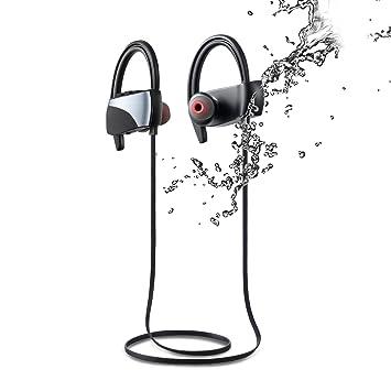 Auriculares Bluetooth, auriculares inalámbricos deportivos IPX7 impermeable a prueba de sudor auriculares estéreo en oreja