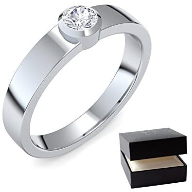 Weißgold ring verlobung  Heiratsantrag Ring Antragsring Verlobung Weißgold Ring Diamant 585 ...