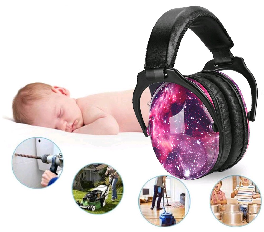 Noise Cancelling Headphones for Kids Hearing Protection with Travel Bag Adjustable Protector Noise Reduction Ear Muffs For Children,Junior,Babies,Infants purple by GAMT (Image #7)