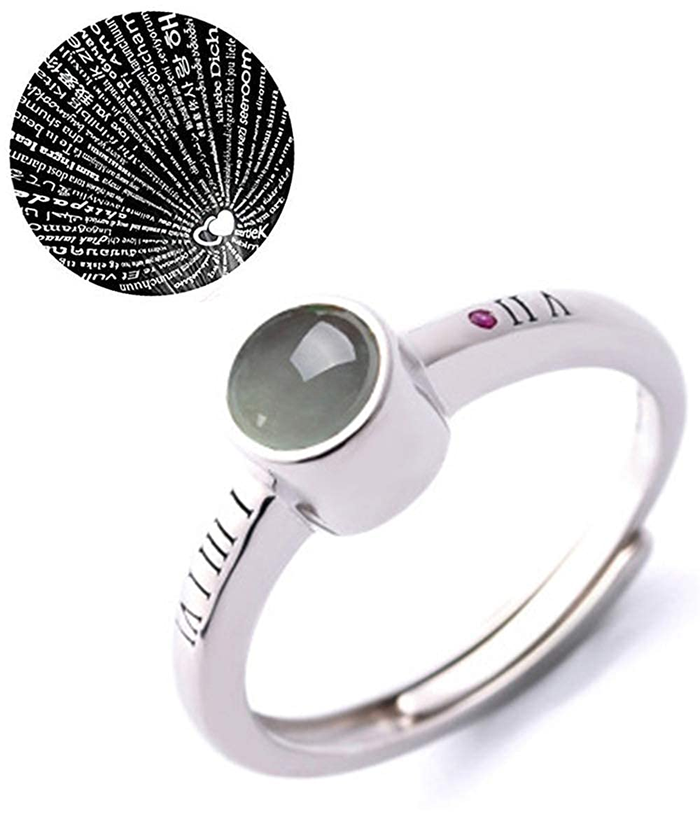 e51b44345 Amazon.com: Smereould Womens I Love You Rings - 100 Different Languages  Lover Promise Memory Adjustable Rings, for Women Girlfriend: Jewelry