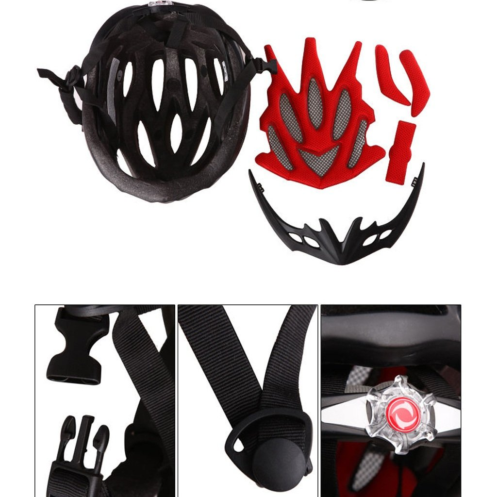 250g Ultra Leichtes Sport Gewicht - Abnehmbarer Hut Fahrradhelm, verstellbarer Sport Leichtes Radsport Helm Fahrrad Fahrradhelme für Road & Mountain Biking, Motorrad für Erwachsene Männer & Frauen, Jugend - Rennen cf711a