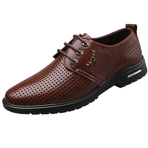Zapatos Vestir Hombre Oxford Cuero Transpirable Traje ...