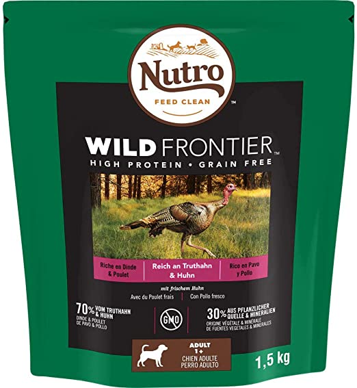 Nutro Wild Frontier Adulto Pollo y Pavo 1,5KG: Amazon.es: Hogar