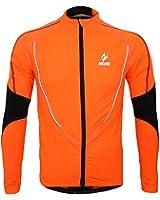 Arsuxeo 冬用サイクルジャケット 長袖ウェアセット 防風 ウインドブレーク 裏起毛 フリース サイクルウェア 自転車 サイクリング【並行輸入】