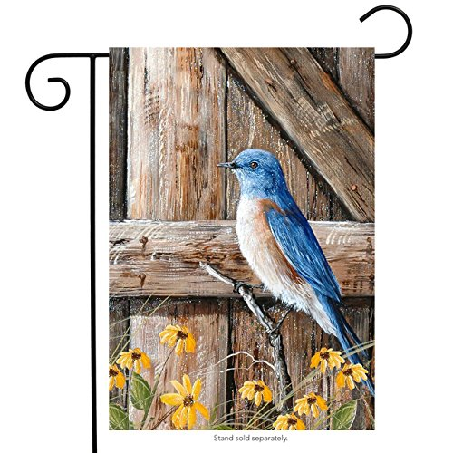Briarwood Lane Bluebird Song Summer Garden Flag Floral Gate 12.5