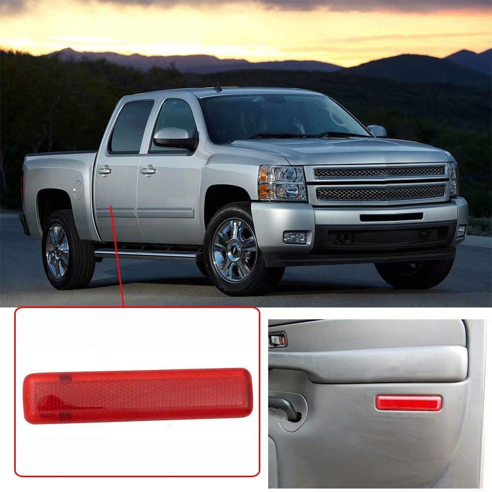 KingFurt Rear Right Side Trim Panel Door Reflector for Chevy Avalanche Suburban GMC Yukon Sierra Trucks /& SUVs Replaces 15183156