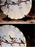ZHAMS 8'' Ceramic Decorative Plate, Art Decoration