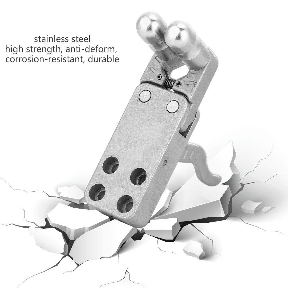 Vobor Slingshot Release Device-Stainless Steel Slingshot Release Device Catapult Trigger DIY Accessory 8 Screws