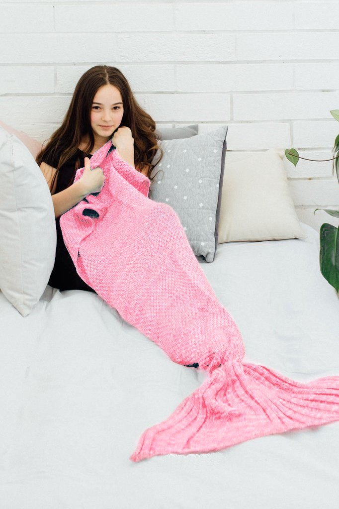 2505/5000 Todas las estaciones Mermaid manta para adultos Crochet ...