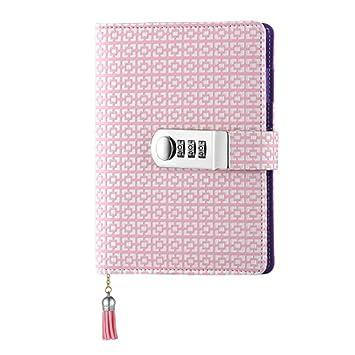 A6 Journal Diario Cuaderno,Agenda de Notas de Cuero, PU ...