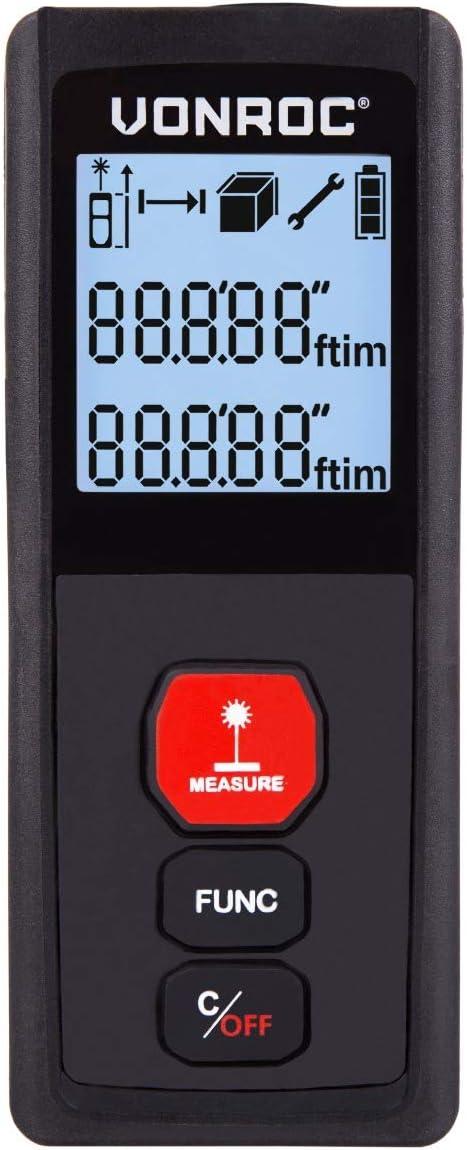 mide longitudes M1 30 metros de alcance m/³ m/² y vol/úmenes superficies Medidor l/áser