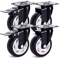 H&S Ruedas giratorias para muebles con ruedas giratorias