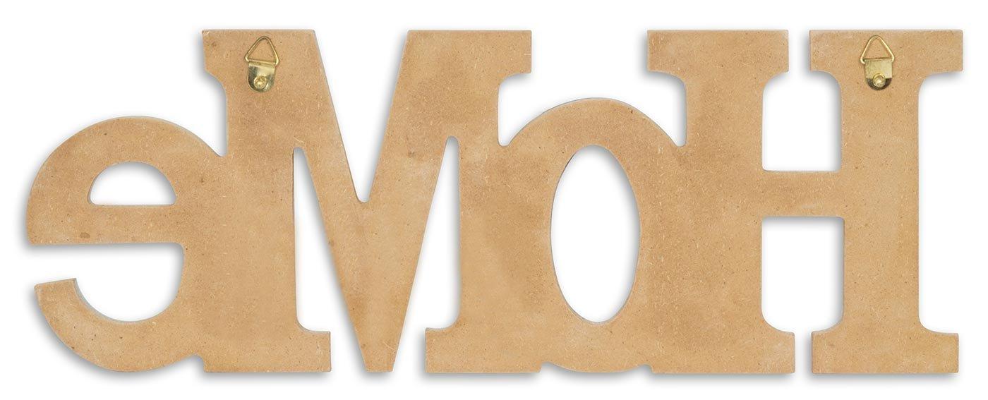levandeo 3d scritta Home 35/x 13/cm legno blu natura lettere decorative