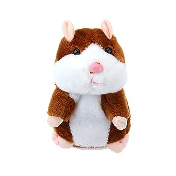 TOYMYTOY Juguete hámster de hablando Repite lo Que Dices Hamster Interactivo Peluche Habla juguete para regalo