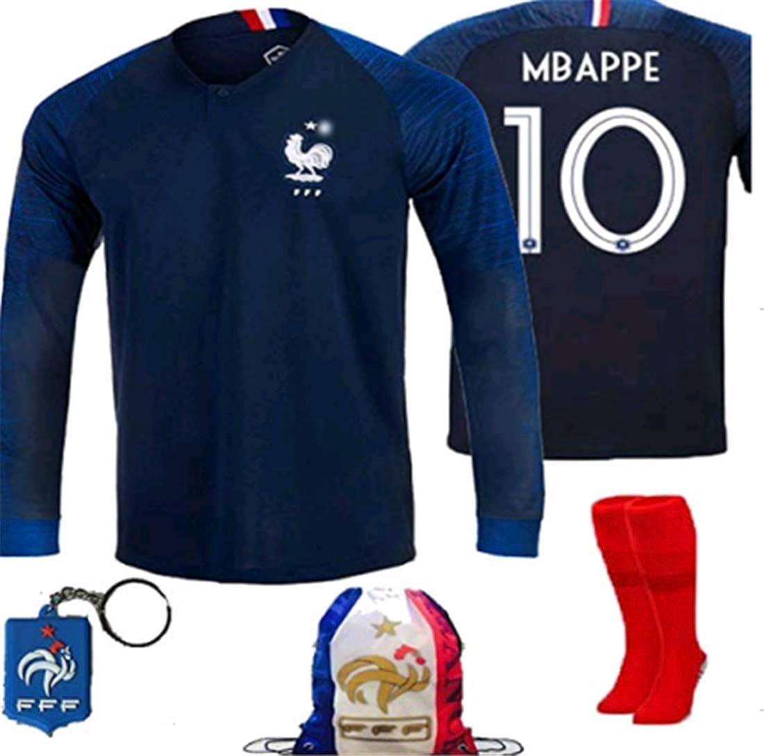 the best attitude 9bfa9 1e18b Amazon.com: LISIMKE France Home Soccer Team Mbappe #10 Kid ...