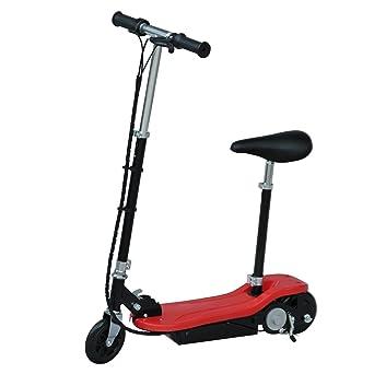Homcom patinete scooter eléctrico con asiento para niños ...