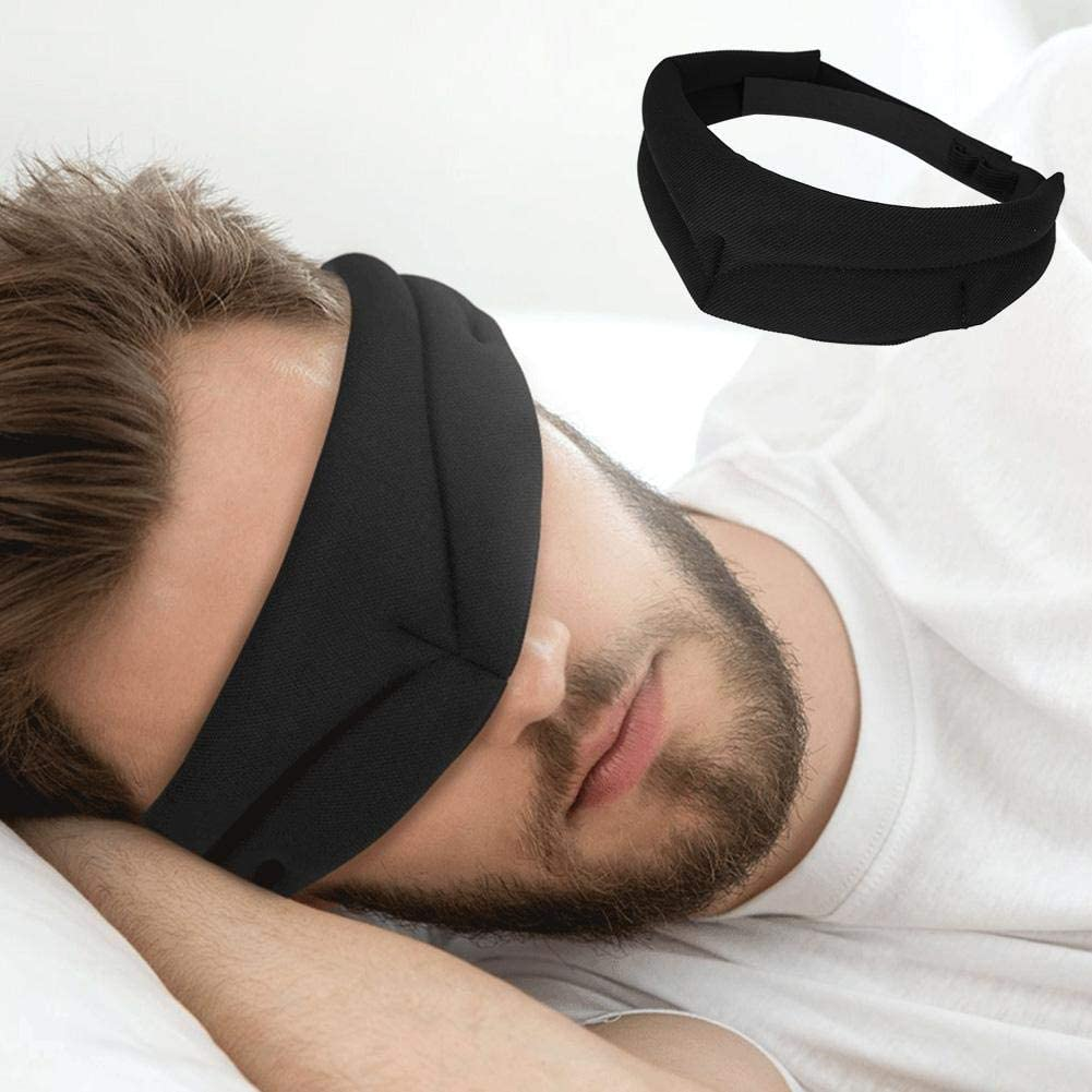 Noir Doux et Agr/éable pour le Masque pour les Yeux Qkiss Masque de Sommeil Ultra-Doux Masque de Sommeil pour Femme et Home Masque Respirant pour les Yeux