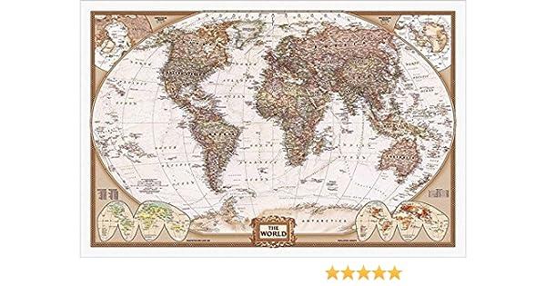 Amazon.com: Buyartforless The World - National Geographic Map ... on