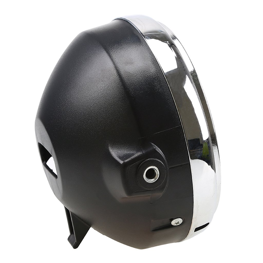 20 cm 12 V Faro de moto redondo con hal/ógeno redondo B Baosity