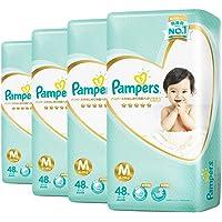 Pampers Premium Care Tapes, Medium, Carton, 48 Count (Pack of 4)
