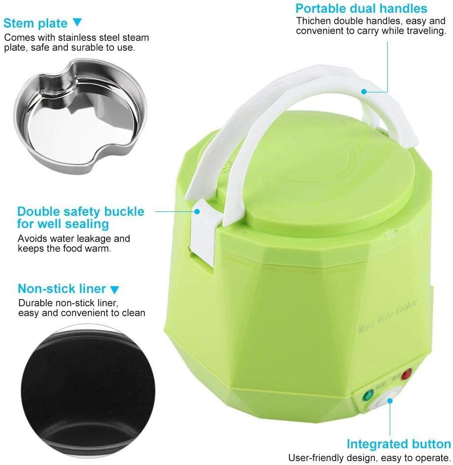 Fiambrera eléctrica multifuncional portátil de 1.6 L Ollas ...