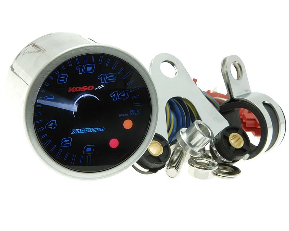 Drehzahlmesser KOSO GP-Style II - analog 15.000RPM 2/4 Takt 2972355