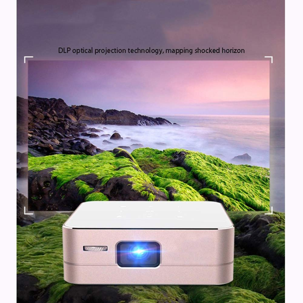 Link Co Mini proyector WiFi inalámbrica de Oficina en casa Mini ...