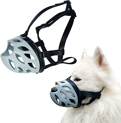 Nobleza Dog Muzzle to Prevent Biting large muzzle for dogs with Adjustable Loop and Soft Neoprene Padding Size L Barking and Chewing