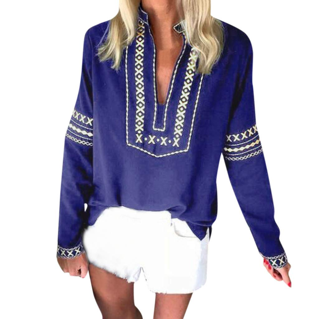 BURFLY Womens Oversized Dashiki Pullover Blouse Shirts Loose Long Sleeve Tops African Printed Sweatshirts Tops Plus Size 8-22 UK