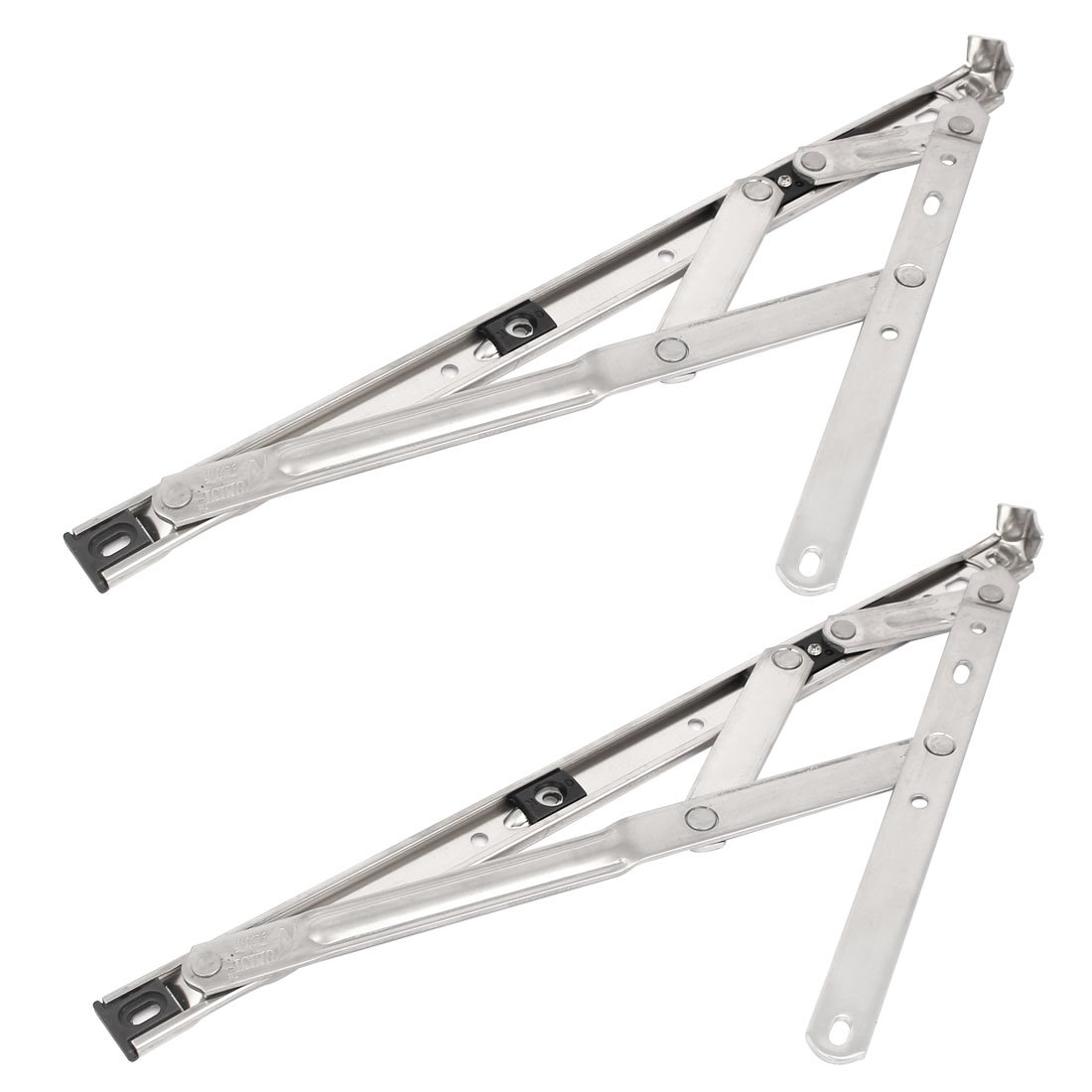 uxcell14-inch 202 Stainless Steel Casement Window Top Side Hung Friction Hinge Stay 2pcs